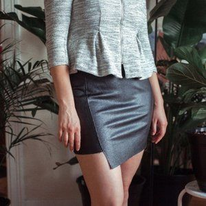 Cotton On Faux Leather Raw Edged Skirt